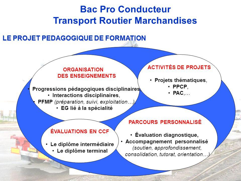 Séminaire de Schiltigheim le 26 mai 2010 Bac Pro Conducteur Transport Routier Marchandises ORGANISATION DES ENSEIGNEMENTS •Progressions pédagogiques d