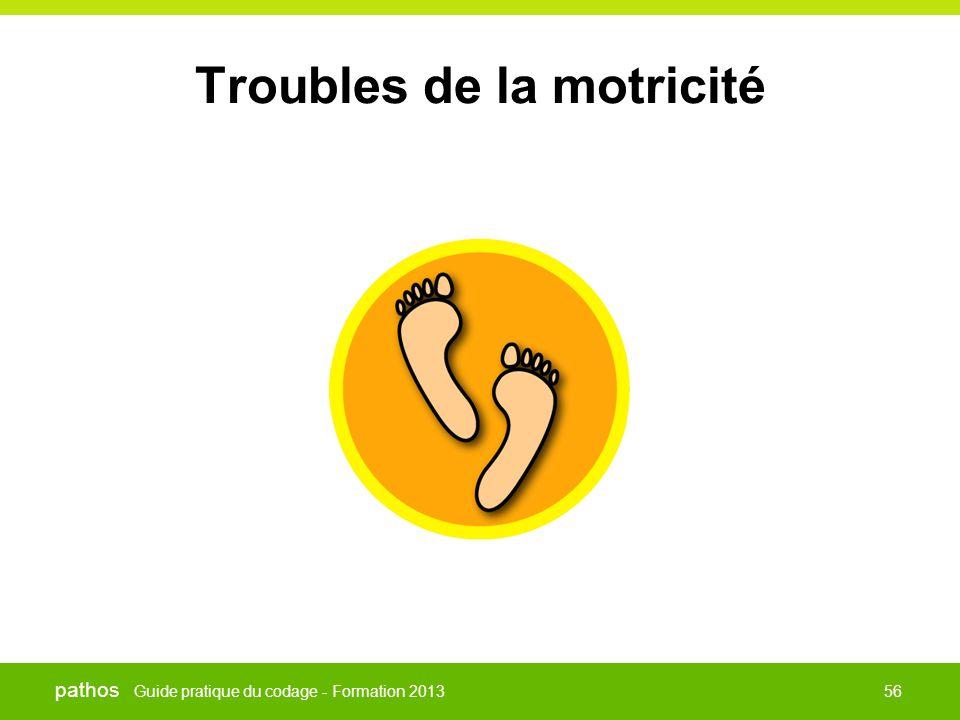 Guide pratique du codage - Formation 2013 pathos 56 Troubles de la motricité