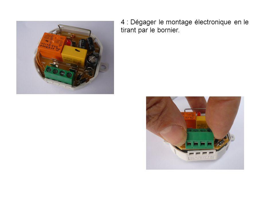 5 : La carte électronique, la voila. 6 : Interrompre la piste à ce niveau avec la lame d'un cutter