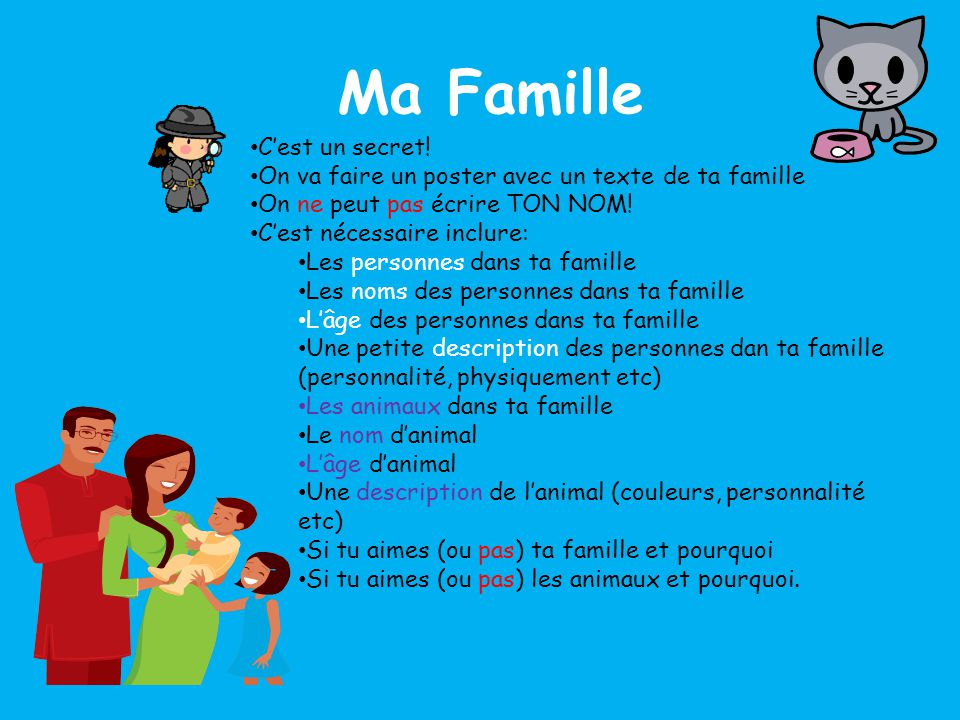 Ma Famille • C'est un secret.