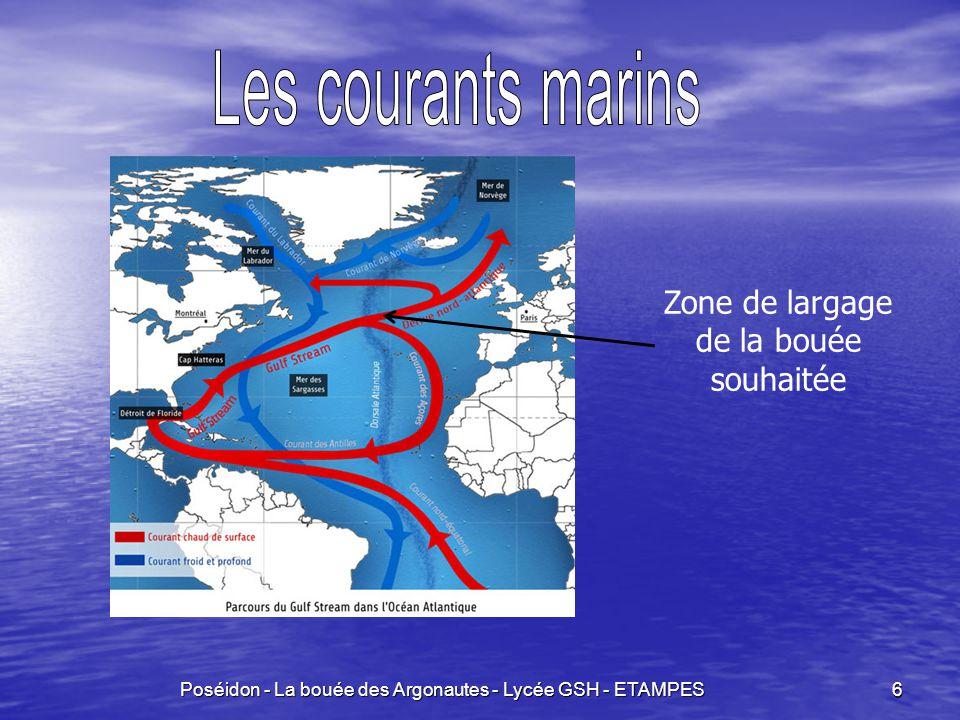 Poséidon - La bouée des Argonautes - Lycée GSH - ETAMPES 6 Zone de largage de la bouée souhaitée