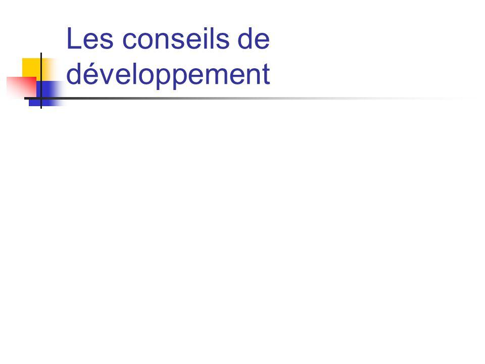 Les conseils de développement