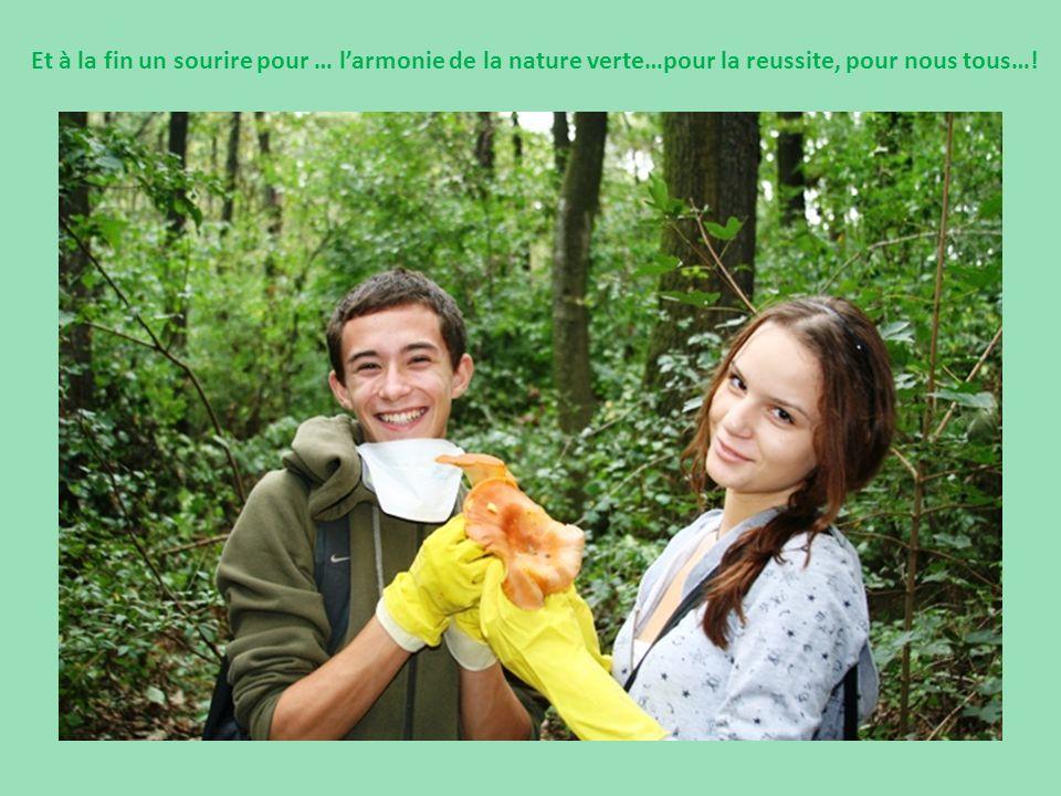 Et à la fin un sourire pour … l'armonie de la nature verte…pour la reussite, pour nous tous…!