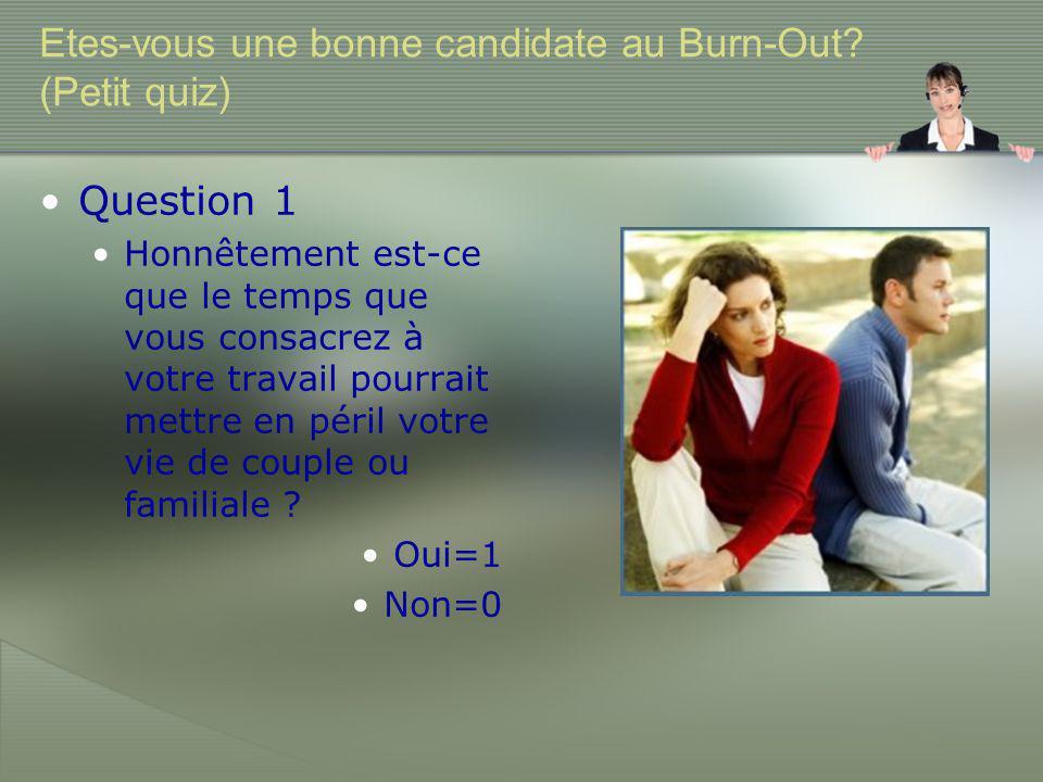 Etes-vous une bonne candidate au Burn-Out.