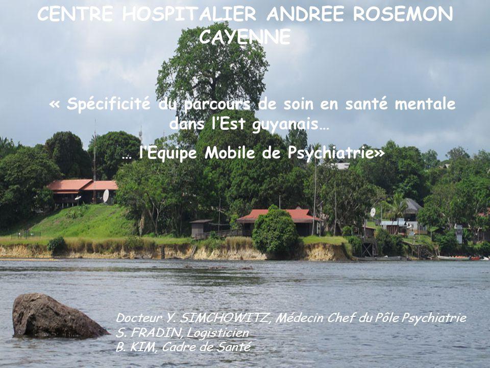 Centre Hospitalier Andrée Rosemon de Cayenne Equipe Mobile de Psychiatrie CENTRE HOSPITALIER ANDREE ROSEMON CAYENNE Docteur Y. SIMCHOWITZ, Médecin Che
