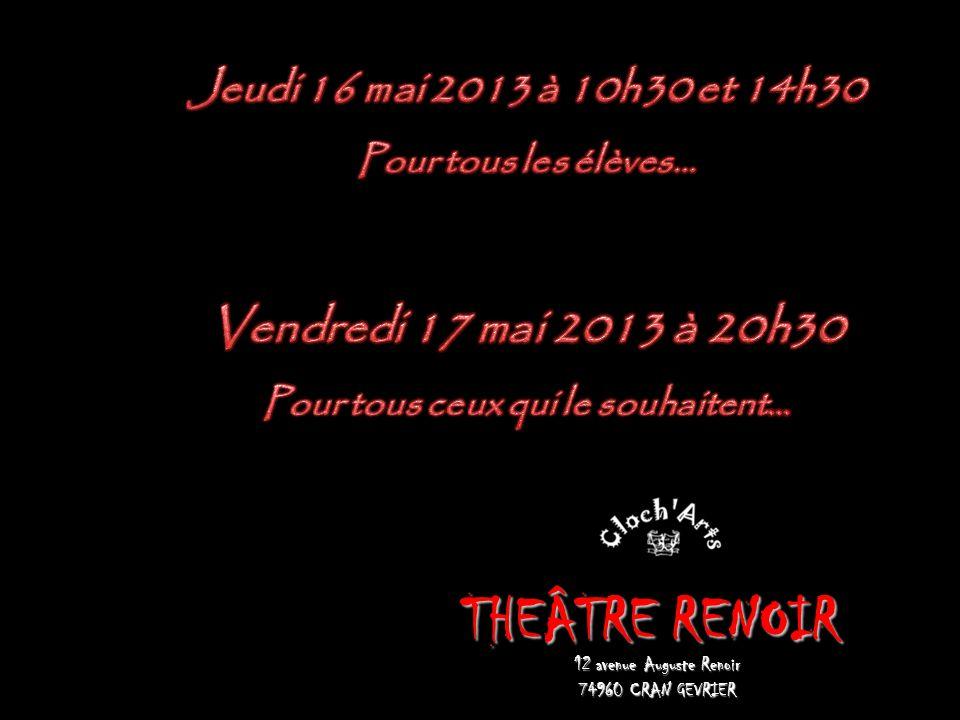 THEÂTRE RENOIR 12 avenue Auguste Renoir 74960 CRAN GEVRIER