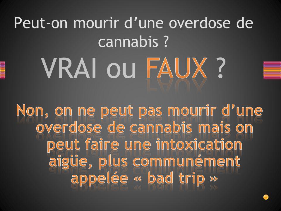 VRAI ou FAUX ? Peut-on mourir d'une overdose de cannabis ?