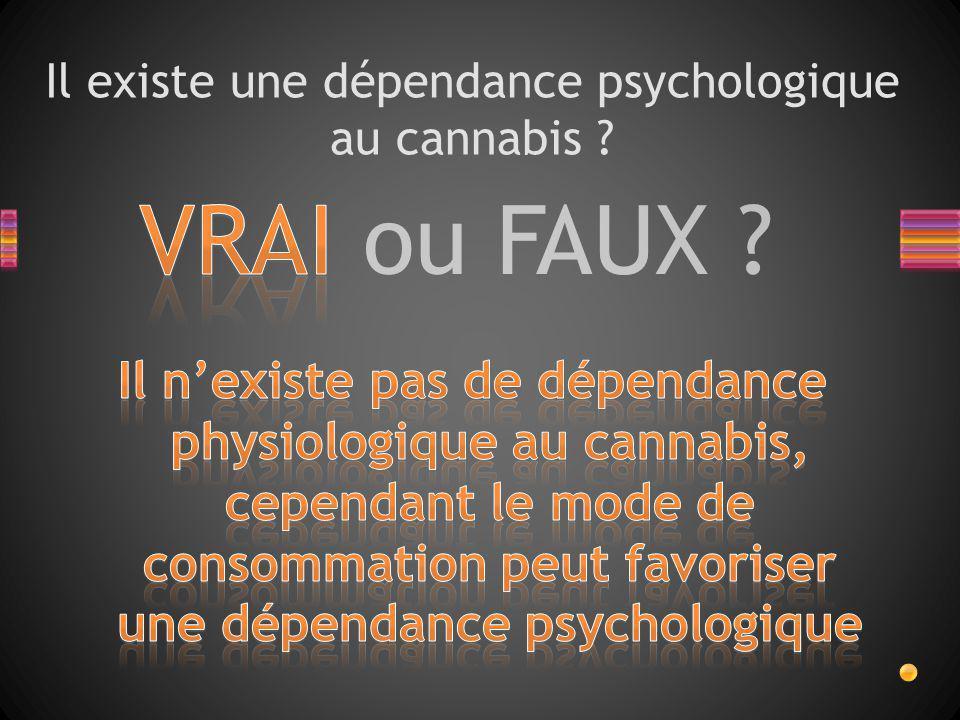 VRAI ou FAUX ? Y a-t-il des symptômes liés à l'arrêt de l'usage du cannabis ?