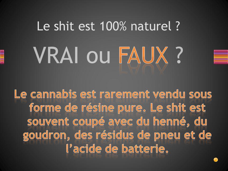 VRAI ou FAUX ? Le shit est 100% naturel ?