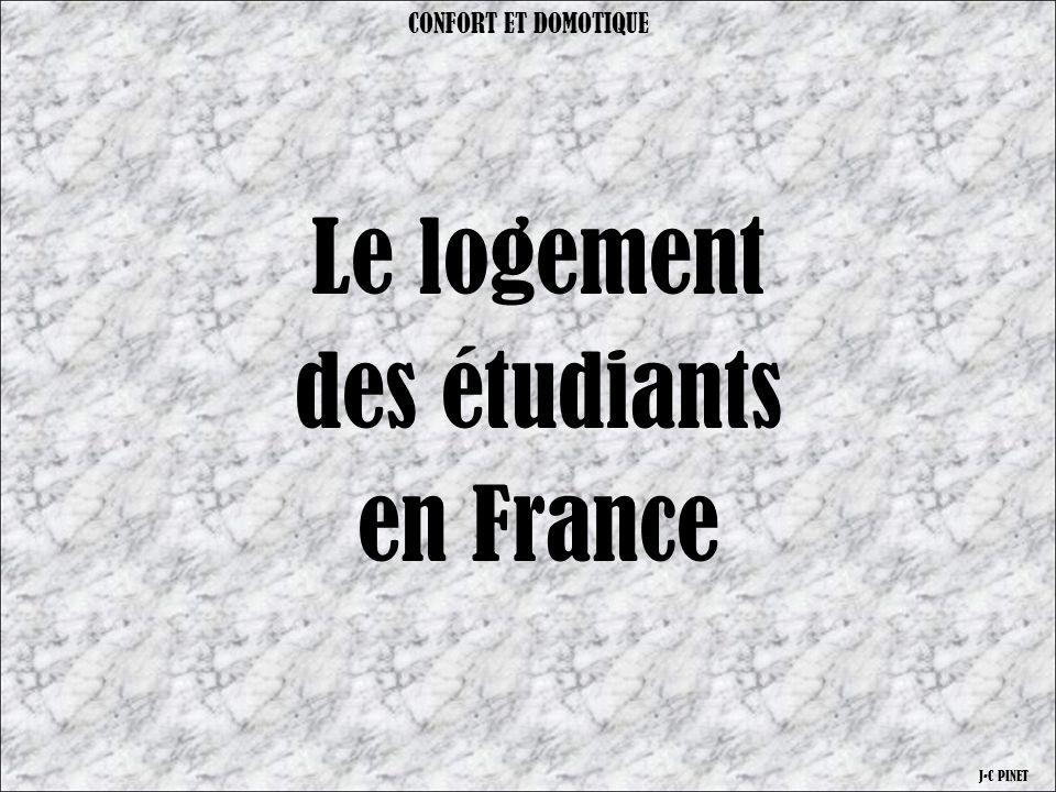 Il y environ 2 200 000 étudiants en France CONFORT ET DOMOTIQUE J-C PINET En 2007 : 1 300 000 sont à la recherche d'un logement Quelles solutions pour se loger ?