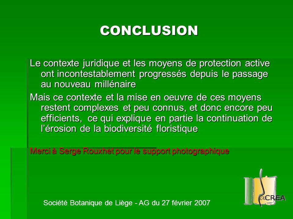 CONCLUSION Le contexte juridique et les moyens de protection active ont incontestablement progressés depuis le passage au nouveau millénaire Mais ce c