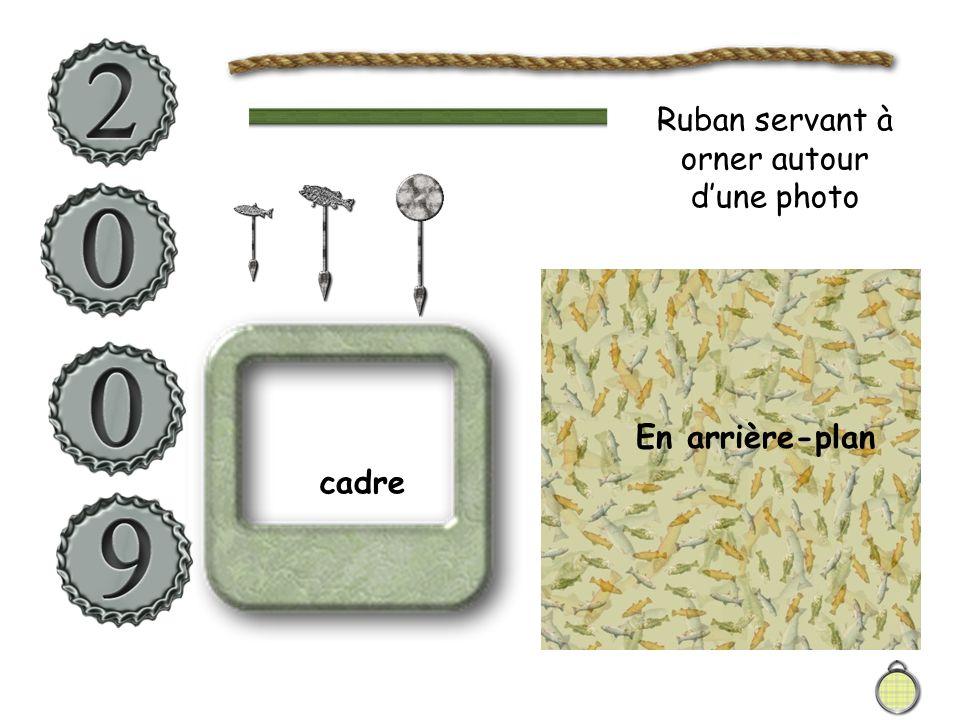 En arrière-plan cadre Ruban servant à orner autour d'une photo