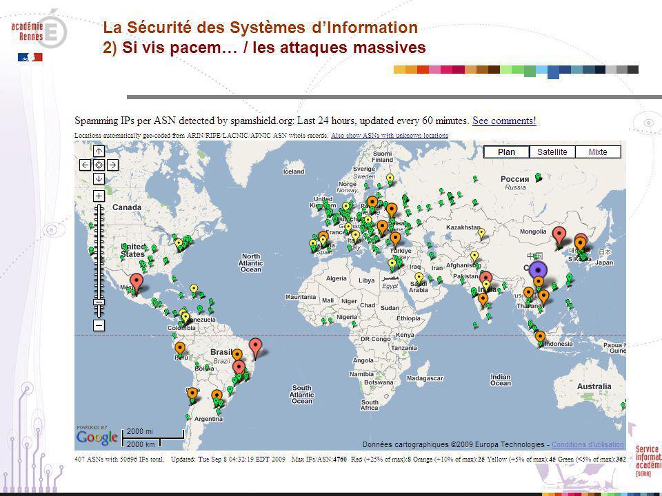 La Sécurité des Systèmes d'Information 2) Si vis pacem… / les attaques massives