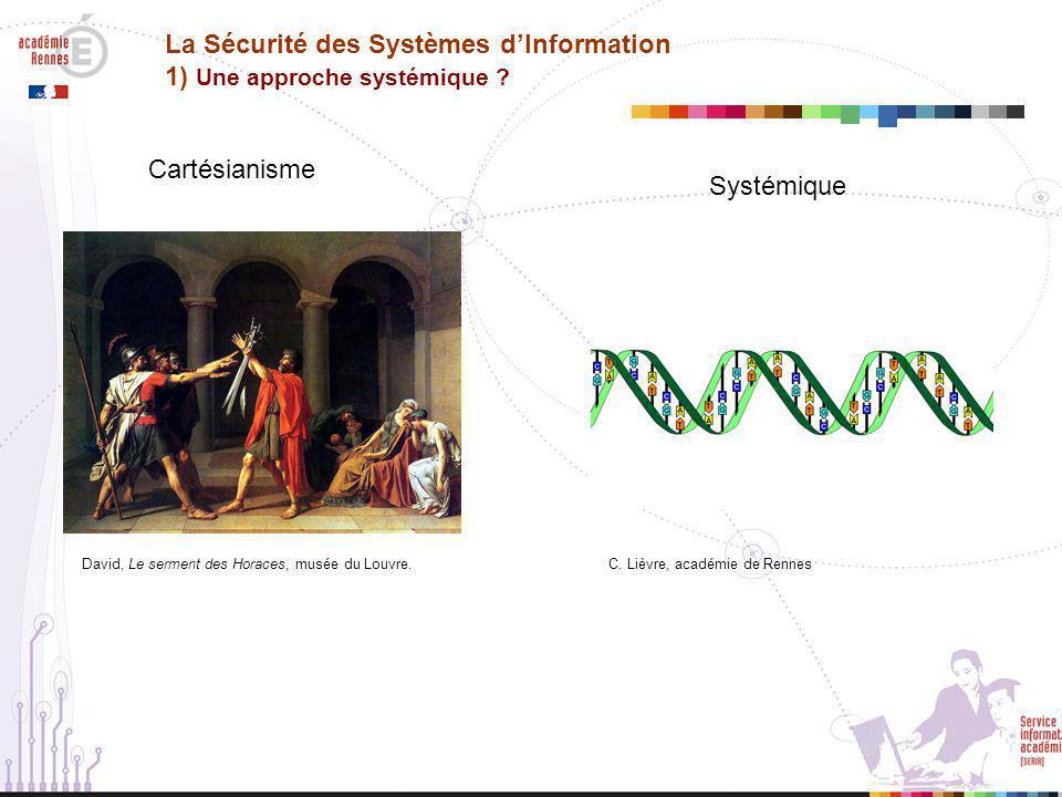 La Sécurité des Systèmes d'Information 1) Une approche systémique .