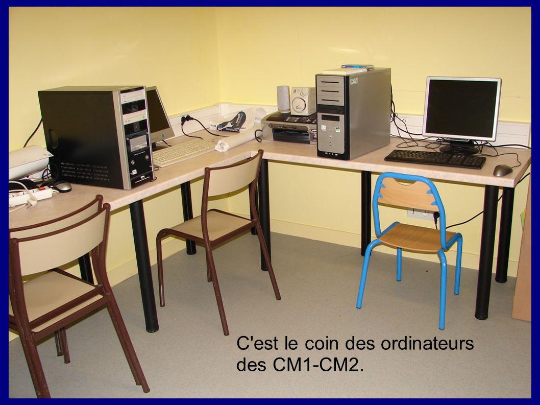 C'est le coin des ordinateurs des CM1-CM2.