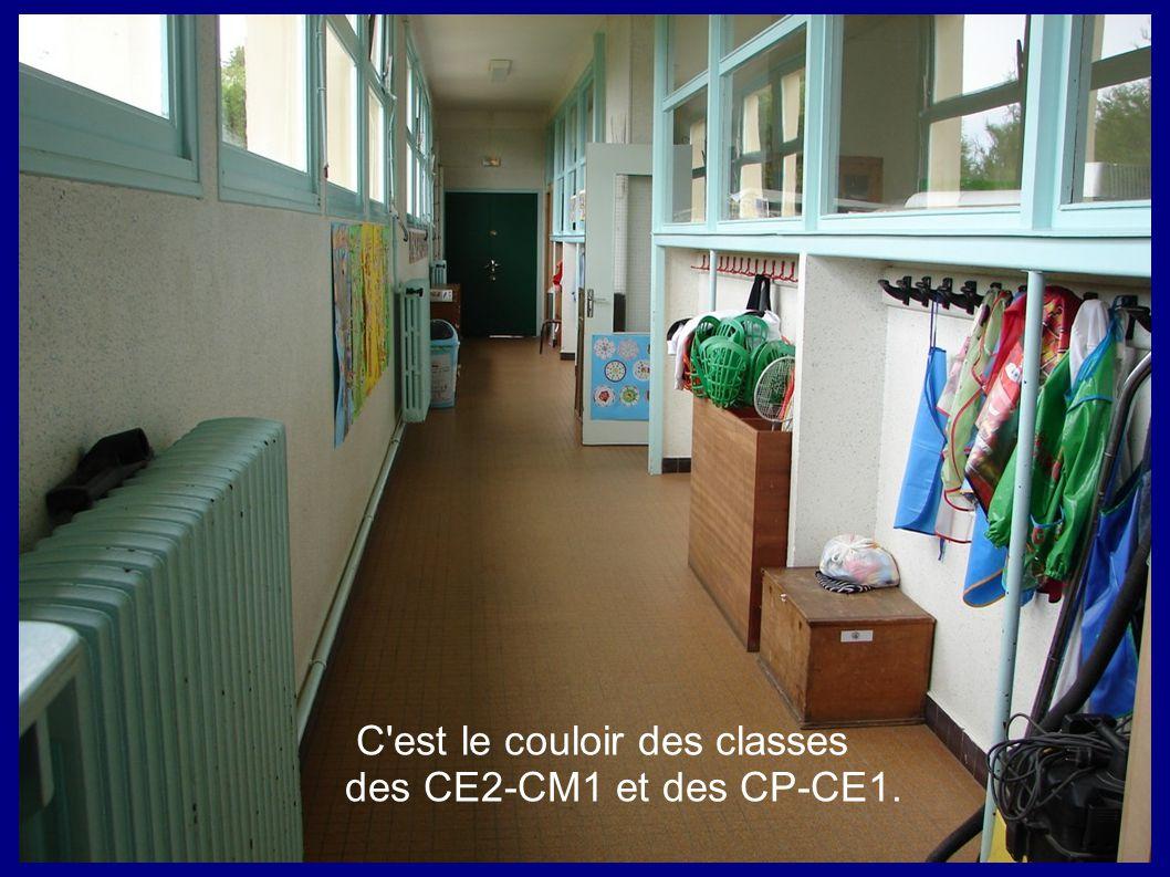 C'est le couloir des classes des CE2-CM1 et des CP-CE1.