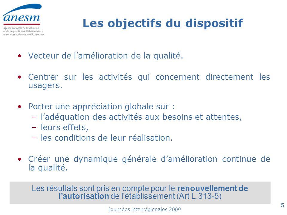 Journées interrégionales 2009 6 Point sur le calendrier de l'évaluation Loi n°2009-879 du 21/07/2009 modifie le calendrier de l'évaluation : •Les ESSMS (L.312-1 du CASF) procèdent à des évaluations internes et en rendent compte à l'autorité qui a délivré l'autorisation.
