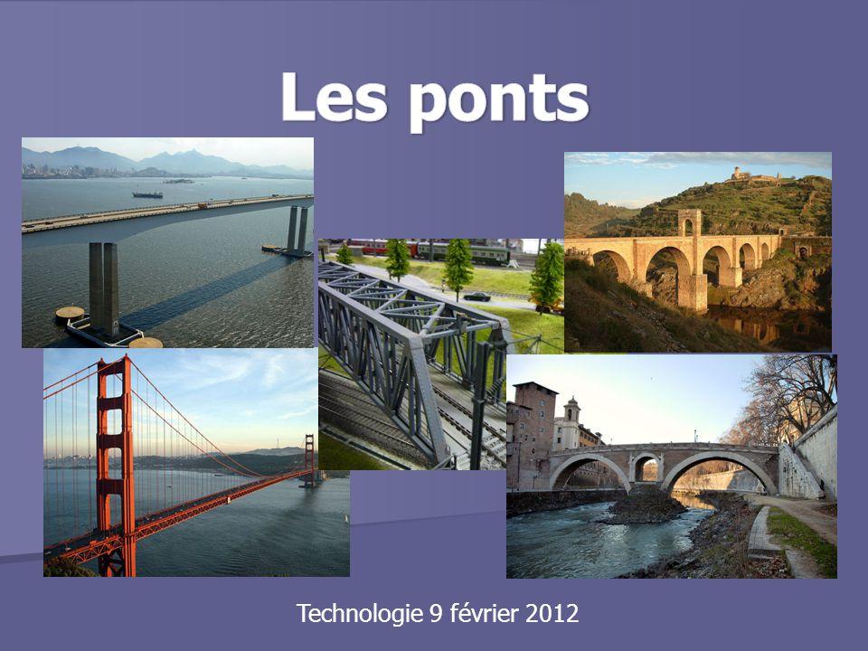 Pont suspendu Pour construire un pont suspendu, les cables sont enfilés de façon à ce qu'ils traversent la rivière.