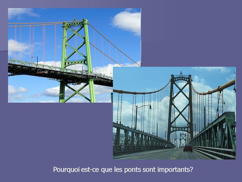 Les forces qui agissent sur un pont: Il y a deux forces principales qui agissent toujours sur un pont Compression - la force qui raccourci un pont Tension - La force qui élargi un pont Les forces