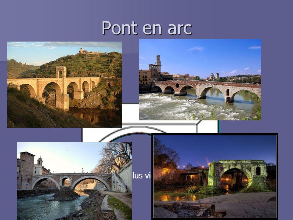 Pont en arc Un des plus vieux styles de pont