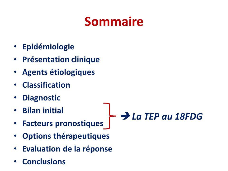 LBDGC Index Pronostique International (IPI) • IPI – Stade III ou IV – ECOG >1 – LDH > No – EN > 1 – Age > 60 ans • aaIPI – Stade III or IV – ECOG >1 – LDH > No HI 100 75 50 25 0 0246810 100 75 50 25 0 0246810 0-1 2 3 4-5 0 1 2 3 En pratique clinique: IPI reste essentiel pour déterminer l'intensité du traitement à administrer à chaque patient.