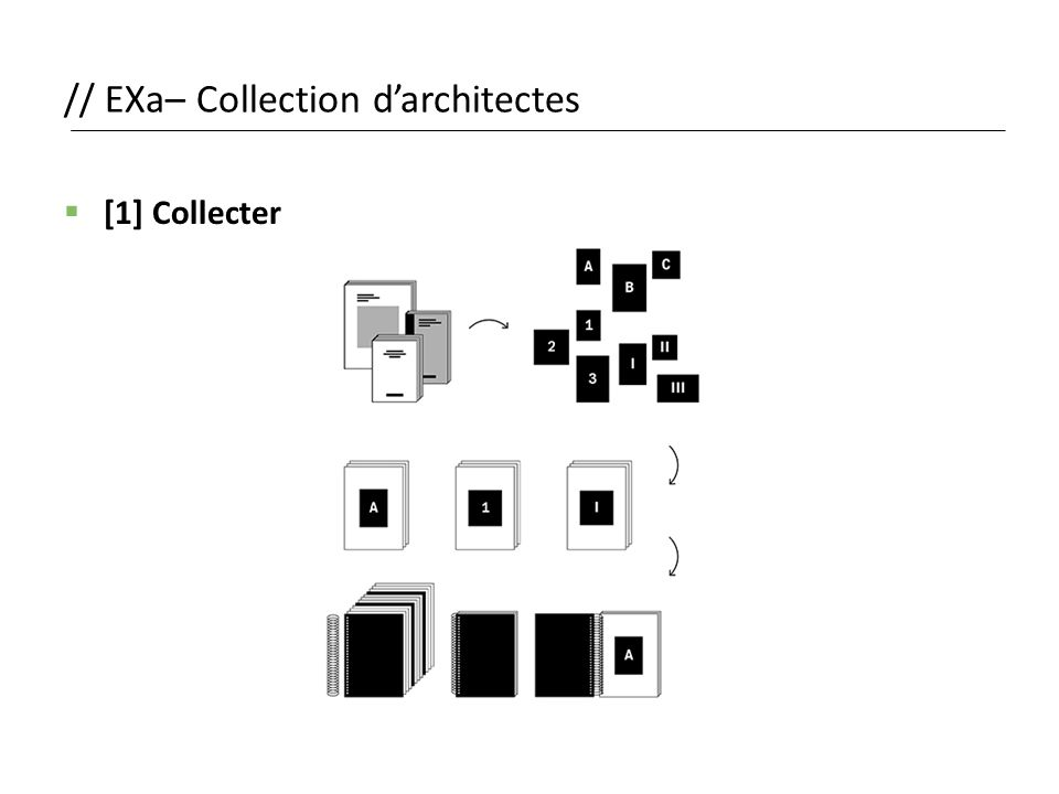 // EXa– Collection d'architectes  [1] Collecter