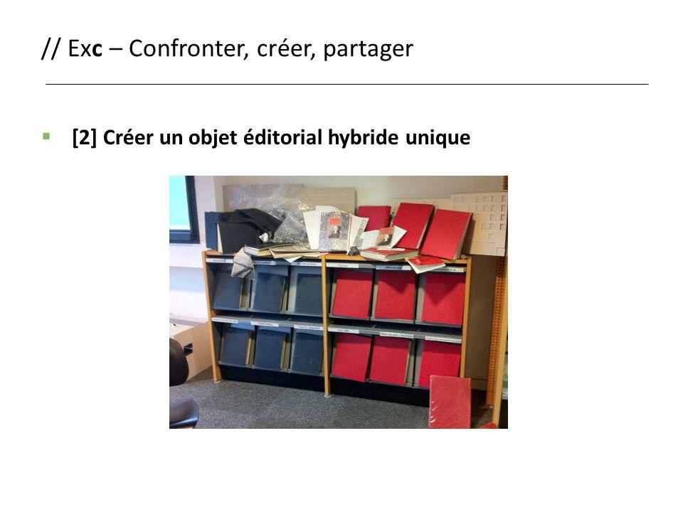 // Exc – Confronter, créer, partager  [2] Créer un objet éditorial hybride unique