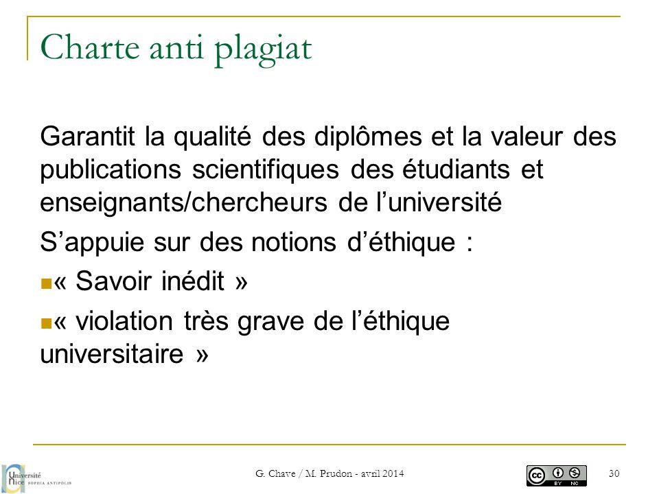 Charte anti plagiat Garantit la qualité des diplômes et la valeur des publications scientifiques des étudiants et enseignants/chercheurs de l'universi