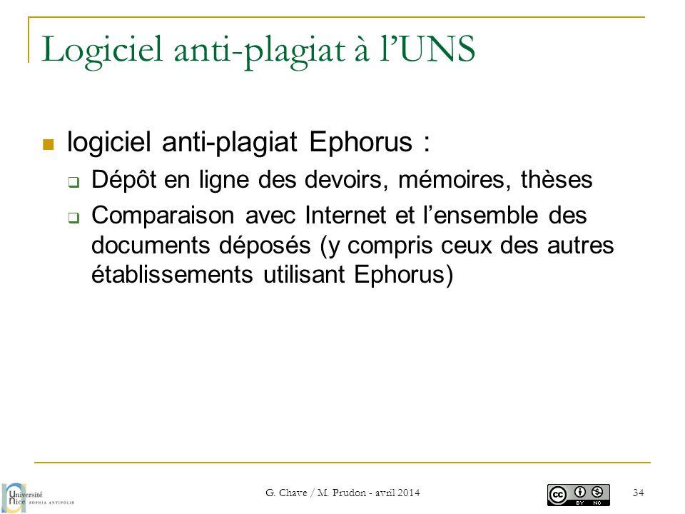 Logiciel anti-plagiat à l'UNS  logiciel anti-plagiat Ephorus :  Dépôt en ligne des devoirs, mémoires, thèses  Comparaison avec Internet et l'ensemb