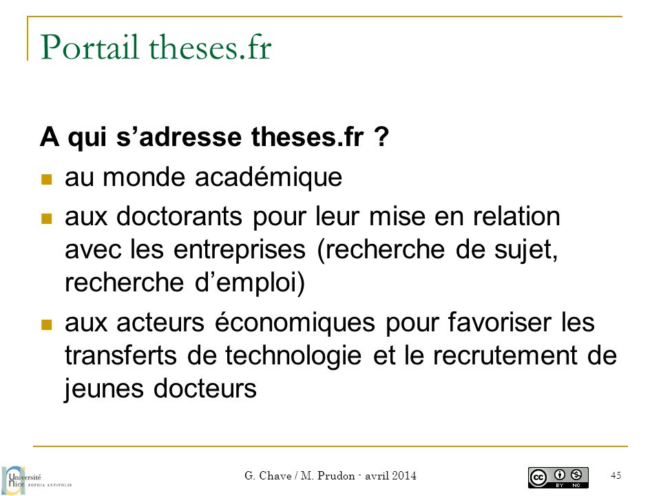 Portail theses.fr A qui s'adresse theses.fr .