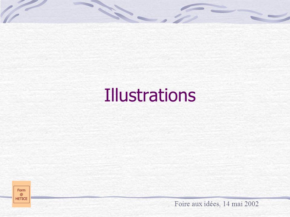 Illustrations Foire aux idées, 14 mai 2002