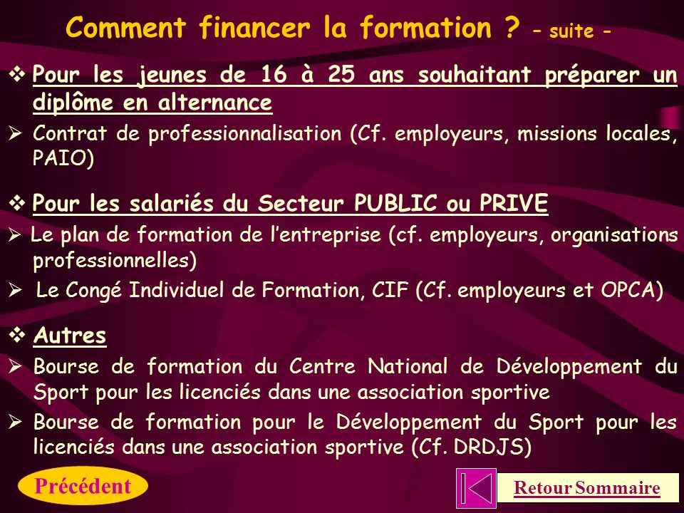 Comment financer la formation .