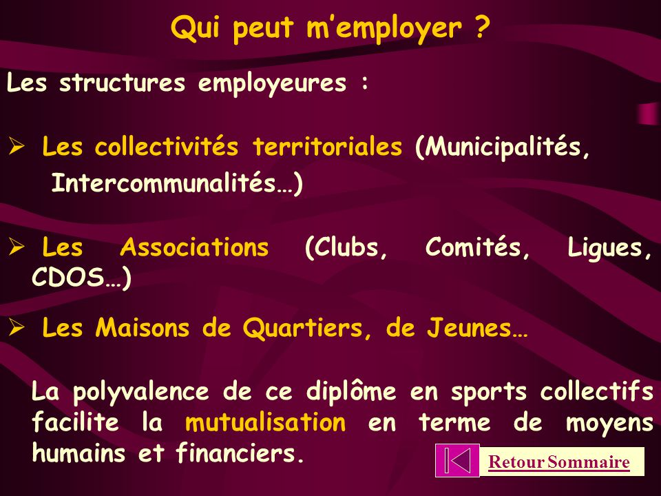 Qui peut m'employer .