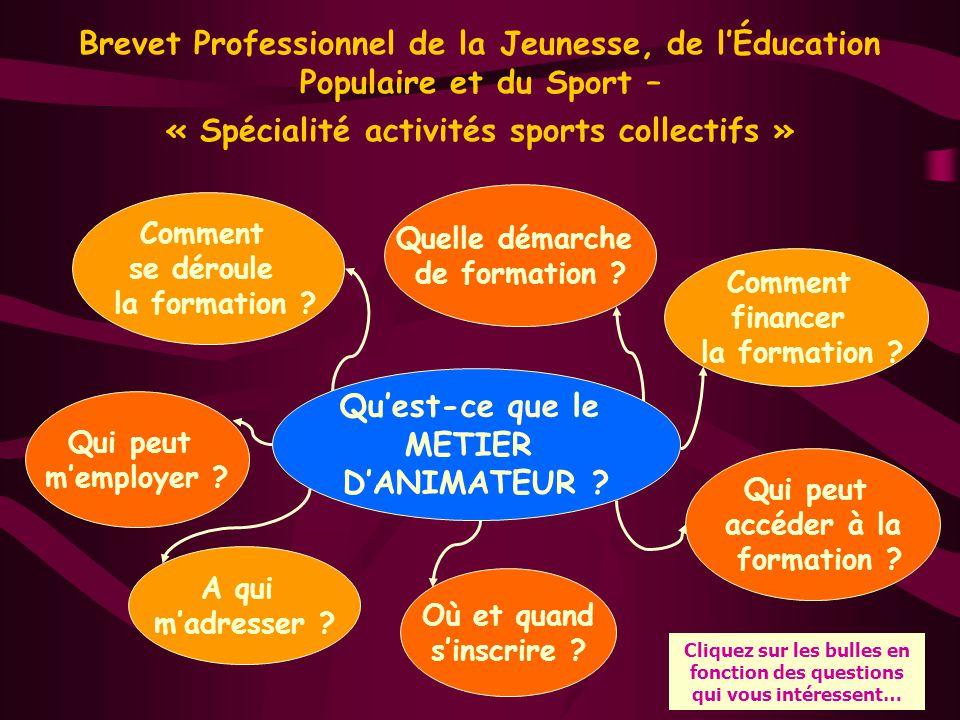 Qu'est ce que le Brevet Professionnel activités sports collectifs .