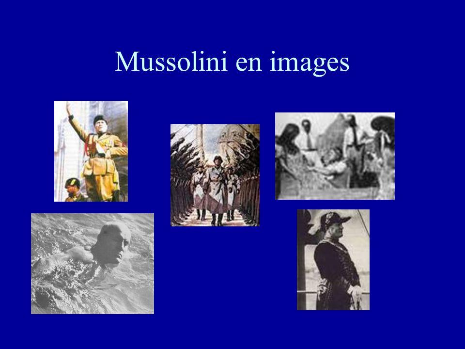 Le culte de la personnalité •Doué d'un égo surdimensionné et à l'image de Staline en URSS et plus tard d'Hitler en Allemagne, Mussolini donne de lui l