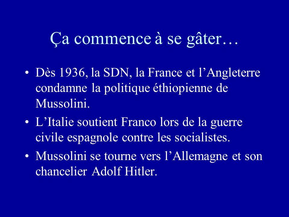 Les réussites de Mussolini •1929, accords de Latran qui donne au Vatican un statut d'Etat et au Pape celui de chef d'Etat. => Les catholiques soutienn