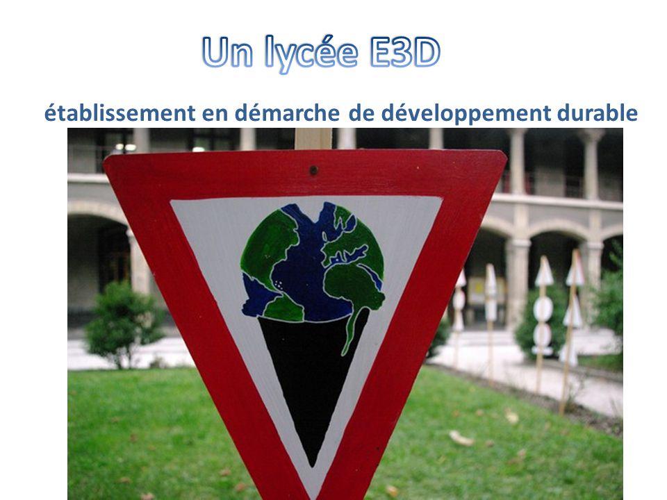 établissement en démarche de développement durable