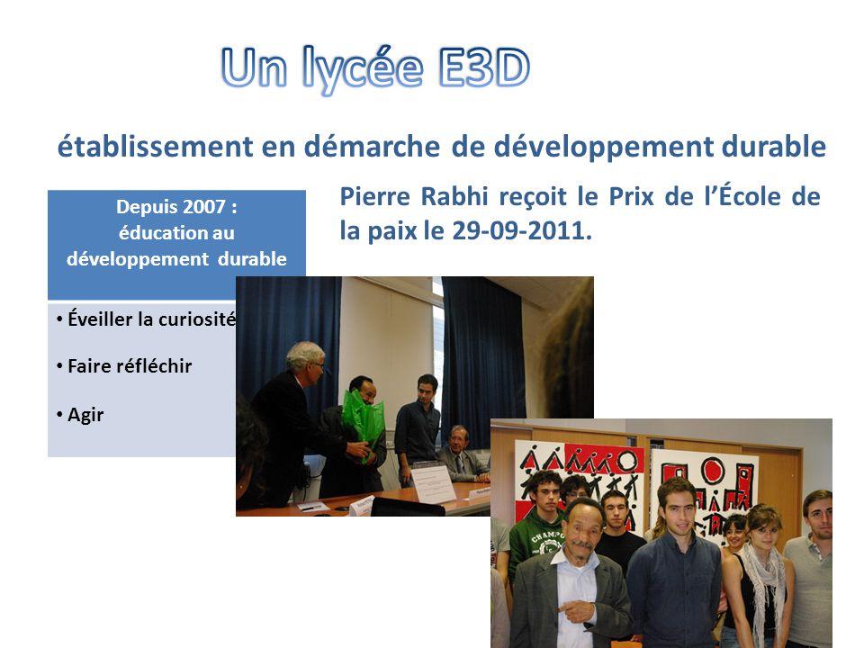 -Collectivité territoriale -Entreprises agricoles -Associations -Réseau d'experts Éducation au Développement Durable (Rex EDD) • Des partenariats Semaine Alimentation et Développement Durable 3 au 8 octobre 2011