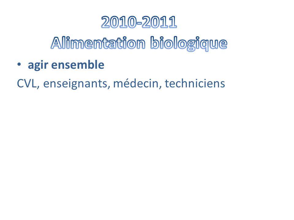 • agir ensemble CVL, enseignants, médecin, techniciens