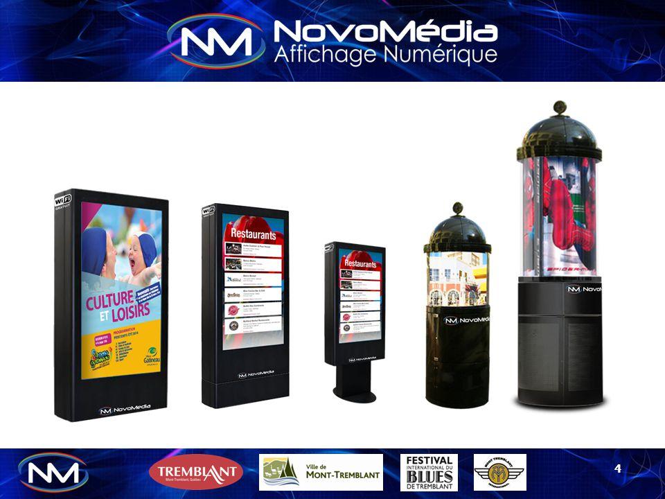 15 Ce kiosque tactile multipoint équipé d'un écran haute définition 72'' offre des possibilités interactives illimitées.