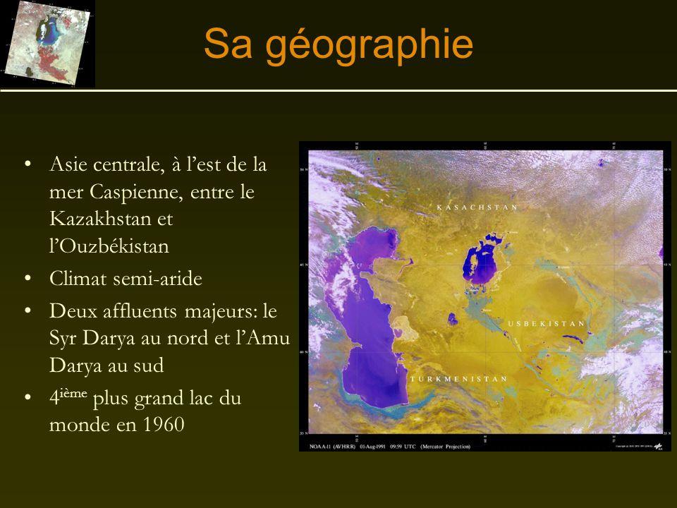 La mer d'Aral Un exemple de désertification due à une mauvaise gestion par l'être humain
