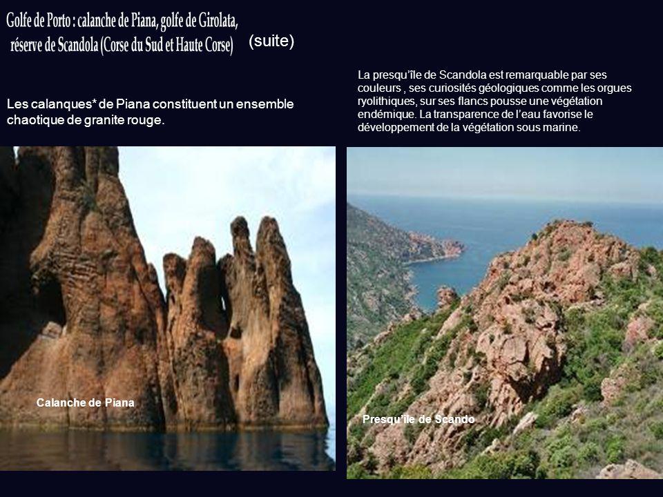 Inscription au patrimoine : 1983 Sources : otpiana.com ; porto-tourisme.com ; wikipedia.org Photos: wikipedia.org Des criques encaissées, des plages d