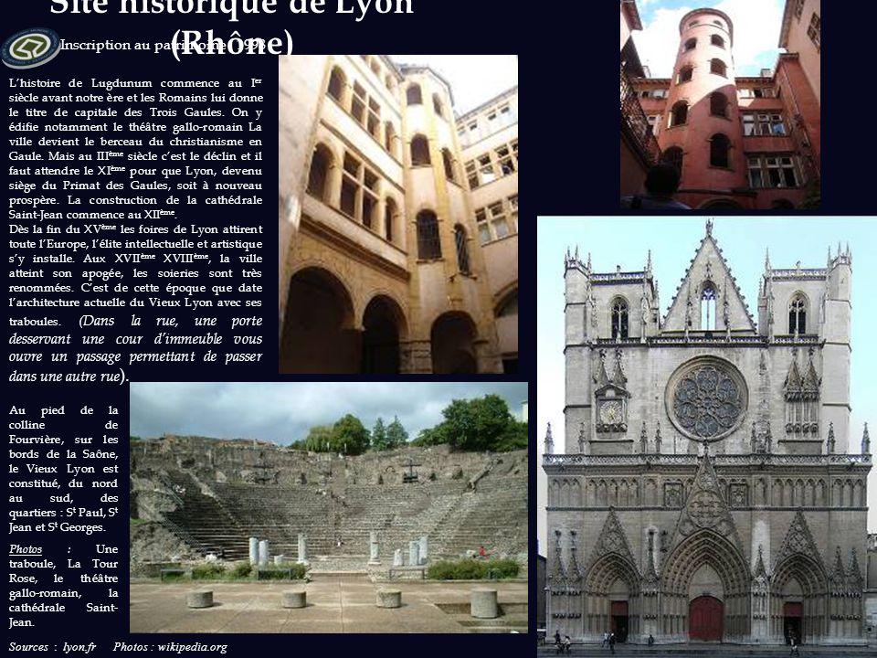 Sources : chemins-compostelle.com et chemindecompostelle.com Photos : wikipedia.org Inscription au patrimoine : 1998 71 bâtiments et 7 portions de che
