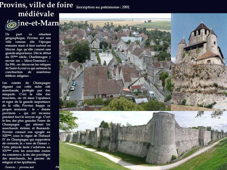 Sources : valdeloire.org et loirechateaux-france.fr Photos et sources : wikipedia.org Inscription au patrimoine : 2000 Le périmètre inscrit au patrimo