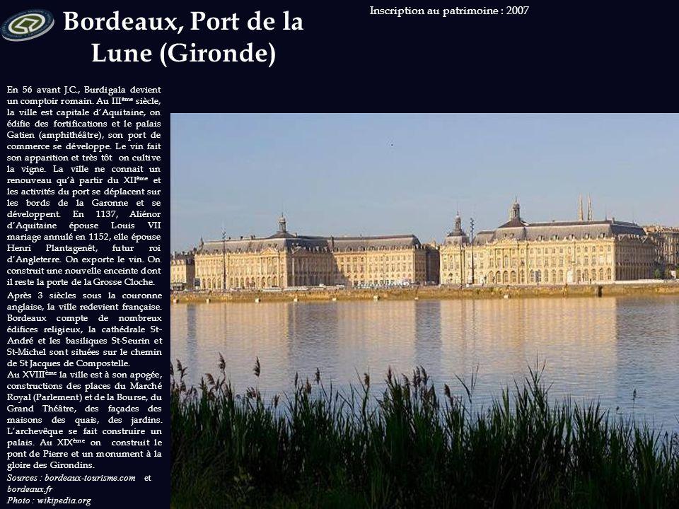 Sources : ville-lehavre.fr Photo : wikipedia.org Inscription au patrimoine : 2005 C'est François I er qui demande la création d'un port fortifié qui d