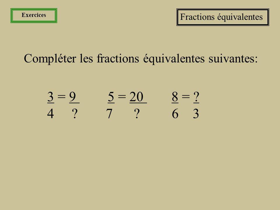 Les nombres La fraction et sa famille Les fractions équivalentes Pour trouver une fraction équivalente, il s'agit de multiplier ou de diviser le numérateur et le dénominateur par le même facteur.