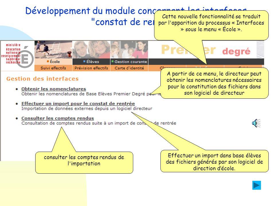  Ajout d'une fonction d'import de données issues de logiciels de directeurs d'école interfacés avec base élèves.  Dans le cas ou le directeur conser