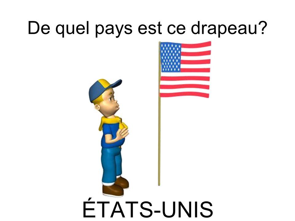 De quel pays est ce drapeau? ÉTATS-UNIS