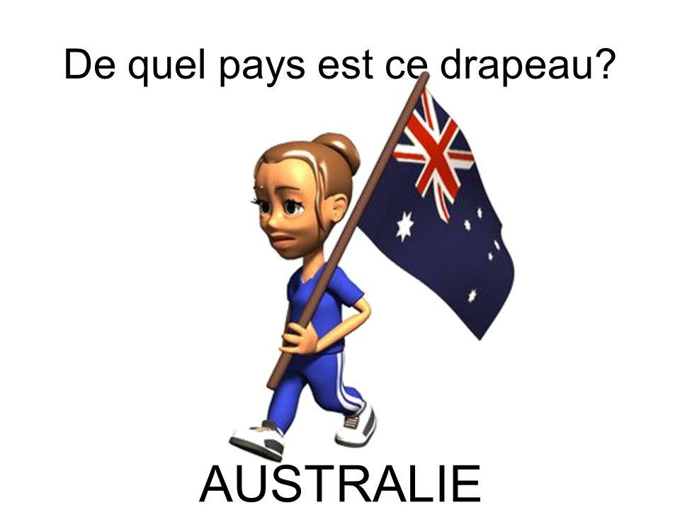 De quel pays est ce drapeau? AUSTRALIE
