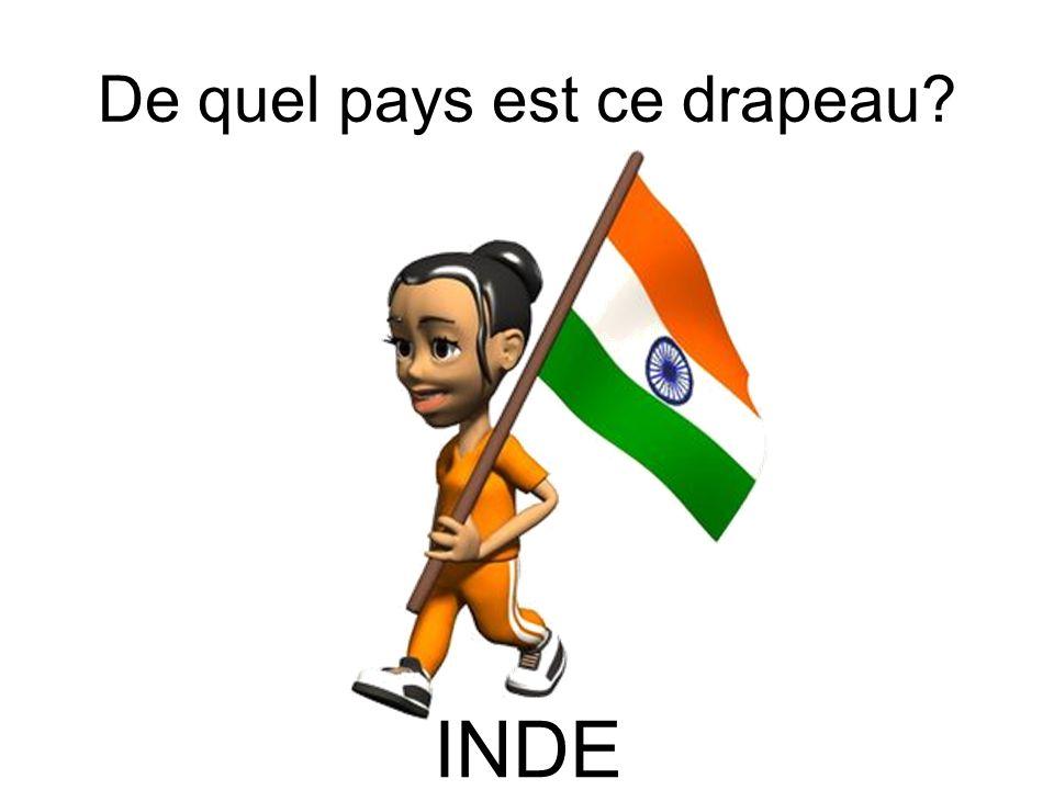 De quel pays est ce drapeau? INDE